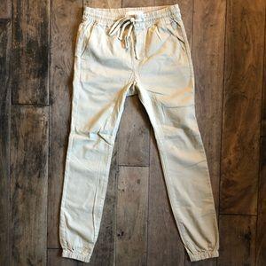 PacSun Khaki Skinny Jogger Pants